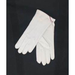 Gloves White with button